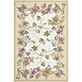 Safavieh Chelsea Collection HK116A Hand-Hooked Ivory Premium Wool Area Rug (6′ x 9′)