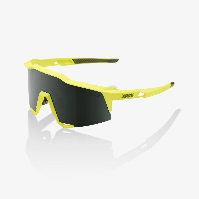 100% Speedcraft Sunglasses-Soft Tact Banana-Grey/Green by 100%