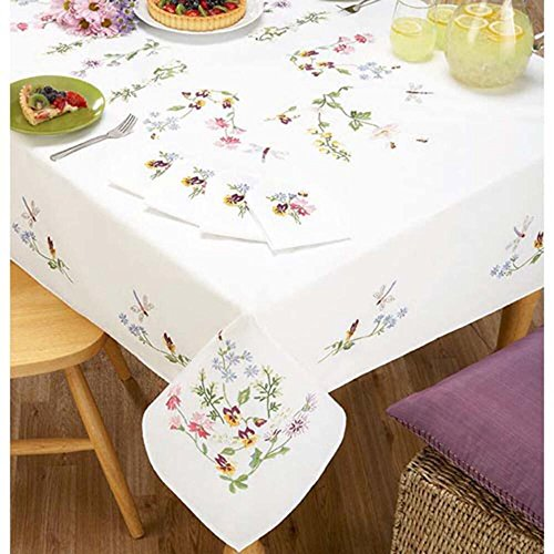 (Duftin Nob Hill Dragonfly Tablecloth Stamped Embroidery)
