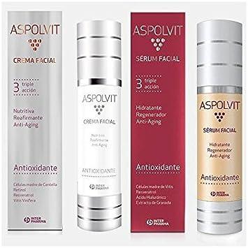 ASPOLVIT PACK CREMA 50 ml + SERUM FACIAL 50 ml: Amazon.es: Salud y cuidado personal