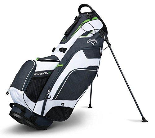 Callaway Golf 2018 Fusion Stand Bag, Titanium/White/Acid Green