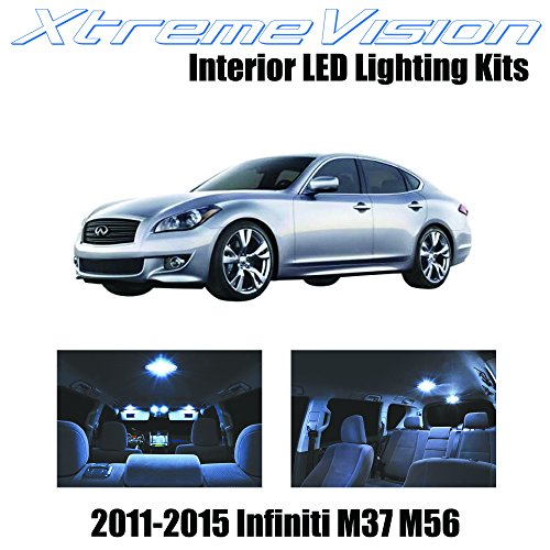 XtremeVision Infiniti M37 M56 2011-2015 (10 Pieces) Cool White Premium Interior LED Kit Package + Installation Tool