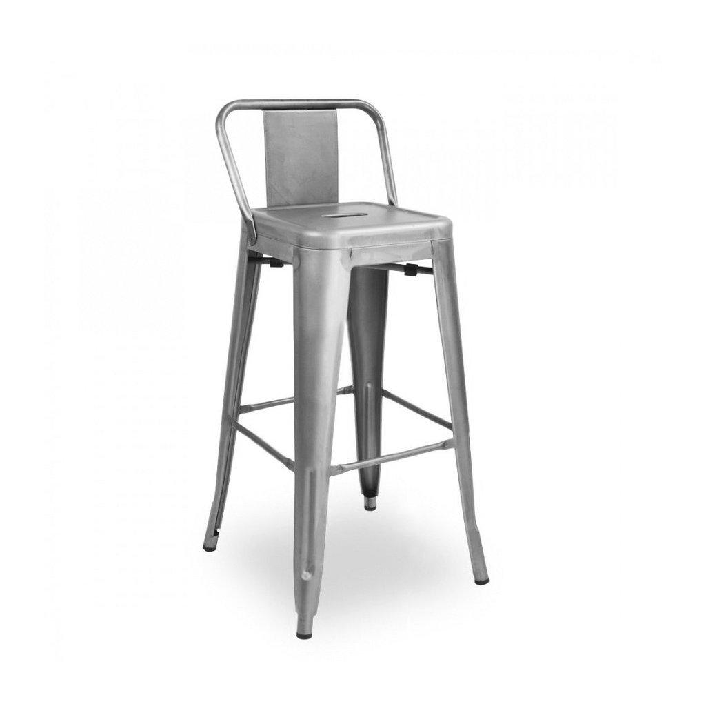 Amazon com design lab mn dreux gunmetal low back steel counter stool 26 inch set of 4 kitchen dining