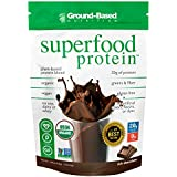 Ground-Based Nutrition Certified Organic Superfood Protein – Zero Carb Plant-Based Protein- Raw Food Protein Powder | All Natural Formula, Vegan, Sugar Free, Rich Chocolate, Vegan, Non-GMO 14 Servings