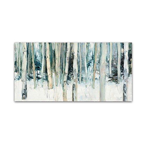 Trademark Fine Art Winter Woods III by Julia Purinton, 16x32-Inch Canvas Wall Art - Iii Fine Art Canvas Print