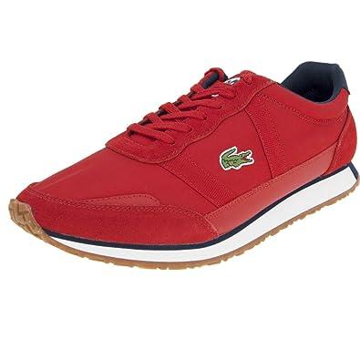 63e951c0fe318d Lacoste Baskets Partenaire 119 Rouge Homme: Amazon.fr: Chaussures et Sacs