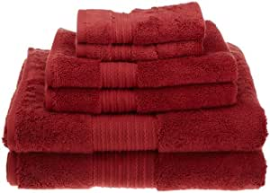 Kassatex Supima Cotton Towel from our Kassa Soft Collection 6-Piece Solid Towel Set, Merlot