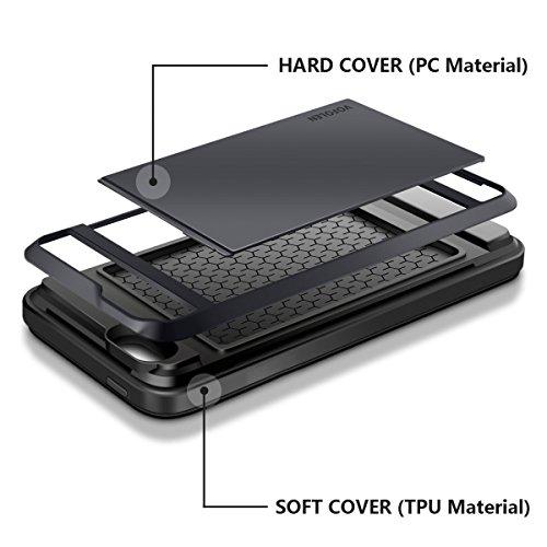 d813640d450 Vofolen Sliding Cover for iPhone 5S Case iPhone 5 Case Impact Resistant  iPhone 5S Cover [Card Slot Wallet Case] Anti-scratch Bumper Skin Hybrid  Shield ...