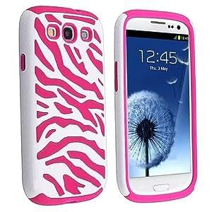 niceeshop(TM) Funda Carcasa Case de Patrón Cebra Zebra 2en1 PC+selicona para Samsung i9300 con una protector de pantalla