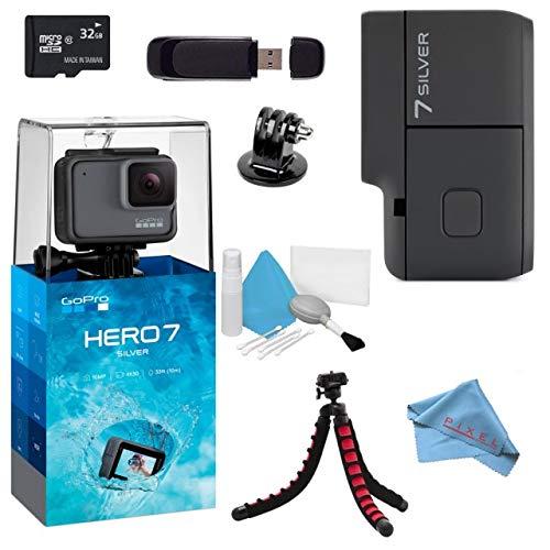 GoPro Hero7 Hero 7 Action Digital Video Camera Silver Standard Bundle