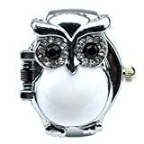Sinceda Women's Fashion Lovely Owl Crystals Quartz Finger Ring Watch with Gift Box