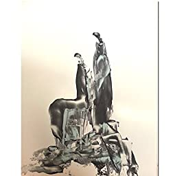 Black and White Abstract Gesture Drawing with Chines Ink on high quality white Paper-5