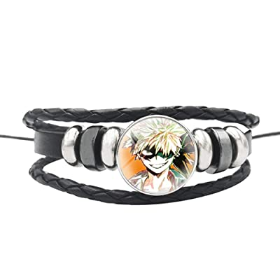 Bowinr My Hero Academia Bracelet, Izuku Midoriya Todoroki Shoto Katsuki Bakugou Wristband for Kids Teens Adults and Anime-Fans(Style 39): Arts, Crafts & Sewing