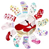 Cubaco Baby Socks 2T 3T, 12 Pairs Non Skid Anti Slip Cotton Toddler Socks for Baby Girls Review