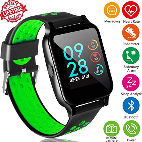Fitness Tracker Watch with Heart Rate Monitor,Sports Activity Tracker Watch with Sleep Monitor Blood Pressure Calorie Counter Pedometer Watch for Kids Women and Men Call/SMS Remind for Christmas Gift]()