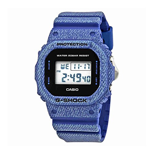 Casio DW5600DE-2 G-Shock Men's Watch Denim Blue 48.9mm Resin Case