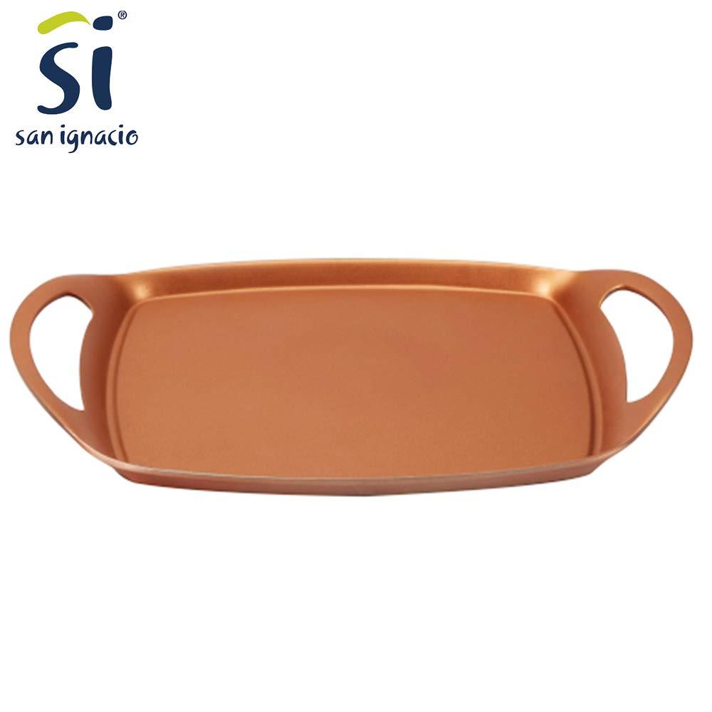 BERGNER - Parrilla Chef Copper Plus de cobre muy resistente y antiarañazos. Antiadherente sin PFOA – Gran parrilla de 36 cm – Placa inferior idónea ...
