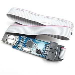 HiLetgo 51 AVR ATMEGA8 Programmer USBasp USB ISP 10 Pin USB Programmer 3.3V/5V with Cable