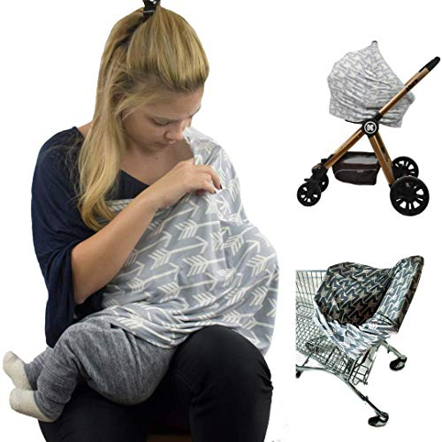 Nursing Cover Breastfeeding Scarf - Baby Car Seat Covers, Infant Stroller Cover, Carseat Canopy for Girls and Boys by Ermis ()