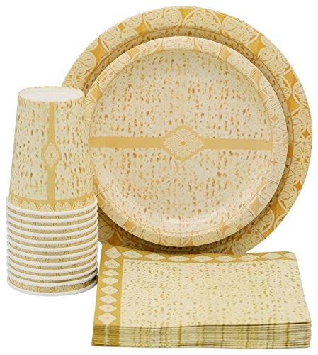 Passover Decorations - Passover Paper Goods Matzah Design Party