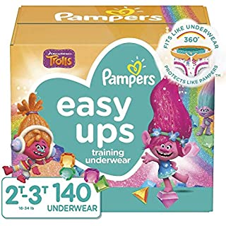 Pampers Easy Ups Training Pants Girls and Boys, Size 4 (2T-3T), 140 Count