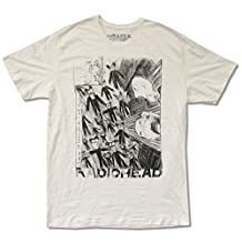 """W.A.S.T.E. Adult Radiohead """"Scribble on Ivory"""" T-Shirt"""