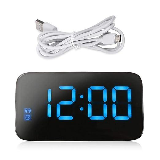 PHUJSA Reloj Despertador Digital Pantalla Led Control De Voz ...