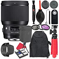 Sigma 85mm f/1.4 DG HSM Art Lens For Nikon + Accessory Bundle