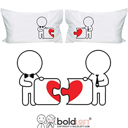 09a29374f623a BoldLoft Made for Each Other His and His Pillowcases- Gay Couples Gifts -  Gay Gifts