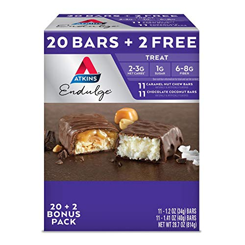 Atkins Endulge Treat Variety Pack (20 + 2 Bonus Bars) AS