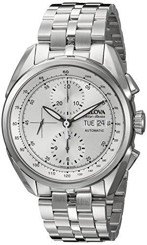 [Bulova Accu Swiss Men's 63C120 Mechanical Hand Wind Silver Watch] (Date Swiss Automatic Watch)
