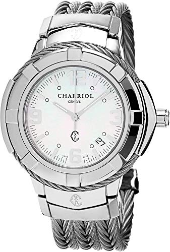 Charriol Women's Celtic Swiss-Quartz Watch with Stainless-Steel Strap, Silver, 18 (Model: CE438S650001)