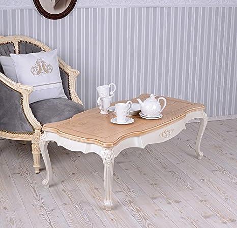 PALAZZO INT Wohnzimmertisch Villa Vintage Couchtisch Weiss Tisch ...