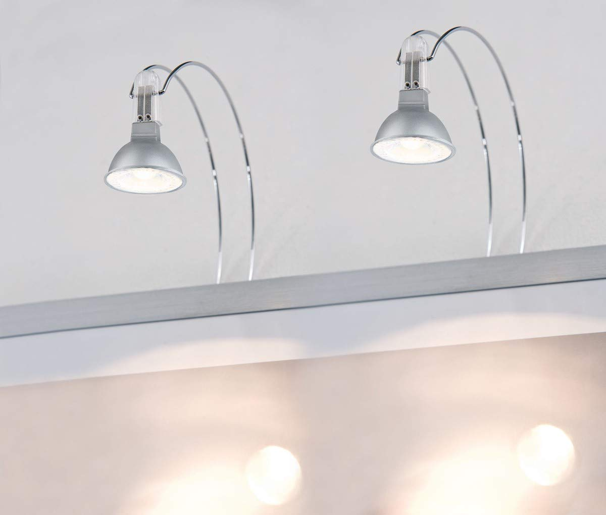 Paulmann 99908 Galeria LED II 2x4W GU5,3 Chrome 230//12V M/étal 8 W 2,5 x 18 x 30 cm