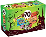 HERSHEY'S 70ct Assorted Halloween Chocolate and Candy 708g- Includes: Reese. Halloween Candy. Reese's
