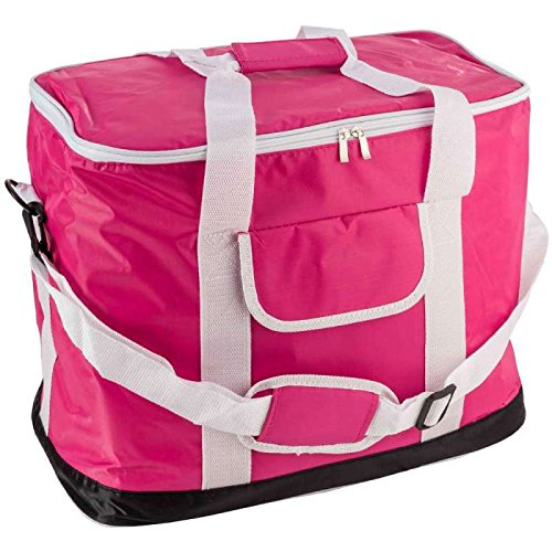 COOLER Nevera portátil flexible rosa de nailon, 30 L: Amazon.es ...