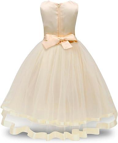 Moonker Girls Wedding Dress for 2-8