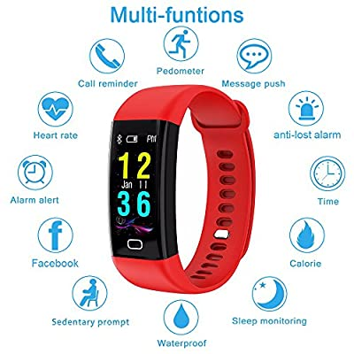 DIWUER Fitness Tracker with Heart Rate Monitor Color Screen Activity Tracker Watch IP68 Waterproof Smart Wristband Pedometer Blood Pressure Sleep Monitor for iPhohe Android Smartphone
