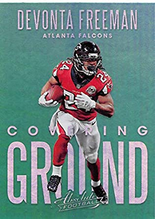 outlet store 4f1a4 1fee9 Amazon.com: 2018 Panini Absolute Covering Ground #16 Devonta ...