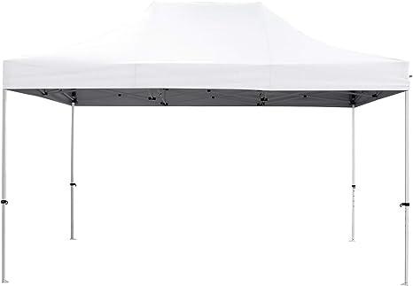 GREADEN - Tienda de campaña plegable blanca 3 x 4,5 m Premium Light - Tubo 32 mm de acero - lona 420d - Barnum plegable - GR-1FA345420AO1