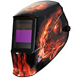 Antra AH7-360-7311 Solar Power Auto Darkening Welding Helmet with AntFi X60-3 Wide Shade Range 4/5-9/9-13 with Grinding Feature Extra lens covers Good for Arc Tig Mig Plasma CSA/ANSI