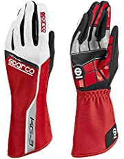 Sparco 00255308RS Guantes, Rojo, 08