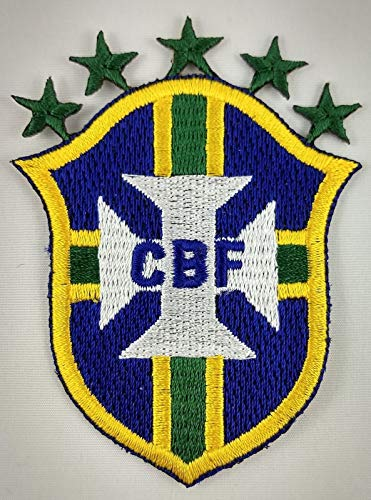 Embroidery Patch Brazil FC Football Club Soccer Badge Applique Brasil 2.5