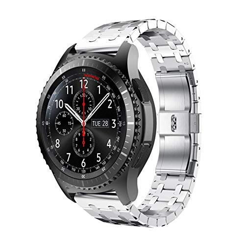 Jewh Watch Strap for Samsung Gear S3 - Frontier Watch - Genuine Stainless Steel Watch Bracelet