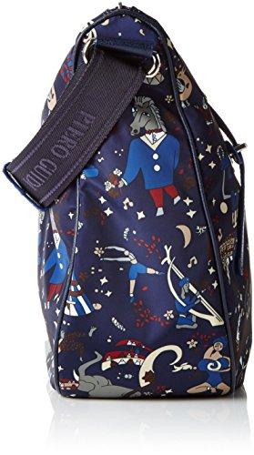 X H Blu Tracolla L 32x28x12 Donna Borsa Messenger A Cm Piero w Guidi q7znv