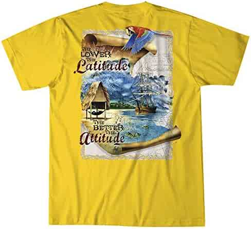 5bd46b85ddf126 Island Jay The Lower The Latitude The Better The Attitude T-Shirt