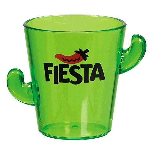 Amscan Cinco De Mayo Fiesta Party Cactus Shot Glass Tableware, 1.7 oz, Green (6 Pack) Dancing Chili Pepper