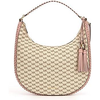5993353ce6e1 MICHAEL Michael Kors Womens Lauryn Hobo Tote Shoulder Handbag Beige Large