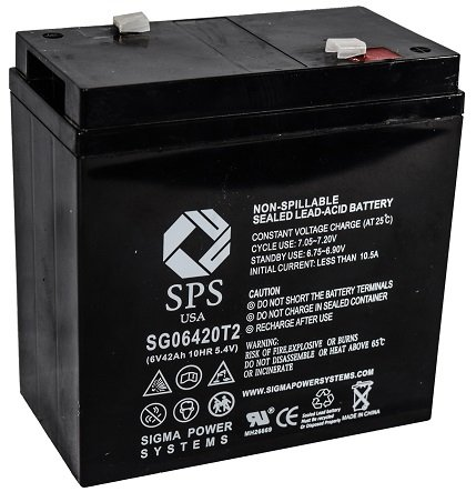 SPS Brand 6V 42Ah Replacement battery for Carpenter Watchman 713513