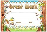30 x Great Work Woodland Design Teacher Certificates for Kids